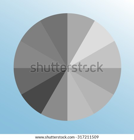 Grayscale Color Swatch Wheel Gray Color Stock Vector Royalty Free