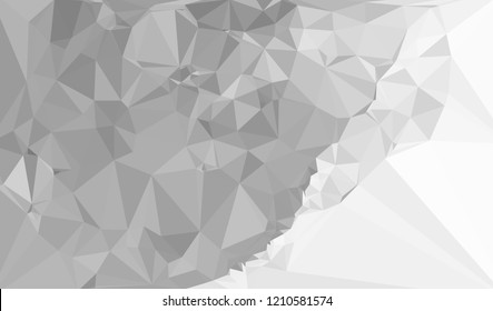 Grayscale triangular background can be used as an alpha channel for video and design projects. Vector clip art.