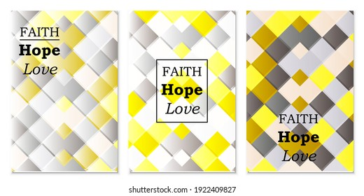 Gray-yellow geometric pattern. Abstract illustration with rhombuses for design. Actual colors