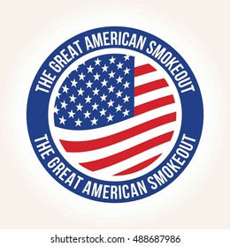 Great American smoke out campaign poster, Quit smoking campaign
