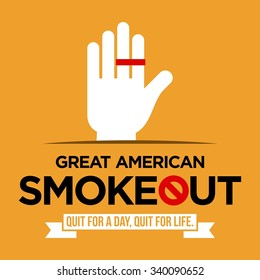 Great American Smoke out Vector Template