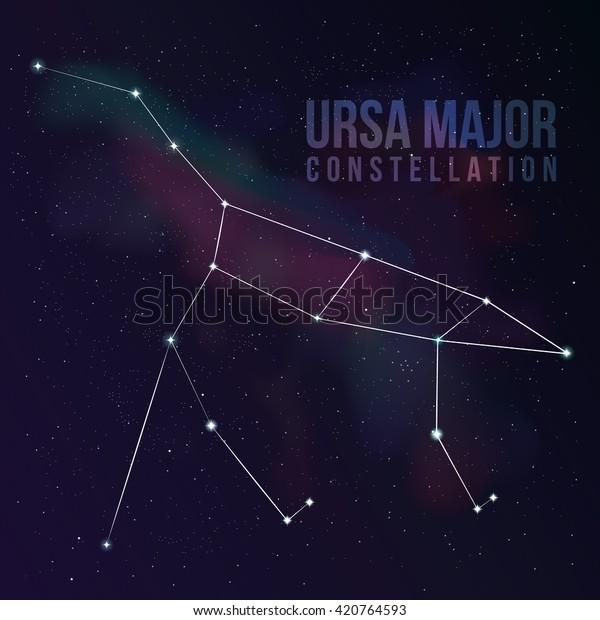 Great Bear Constellation Star Background Big Stock Vector