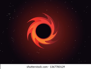 great black hole in space