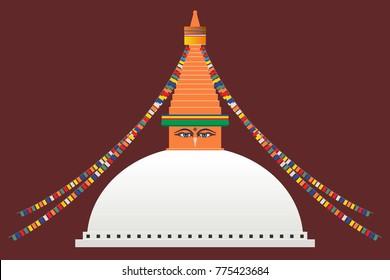 The Great Boudhanath Stupa in Kathmandu, Nepal
