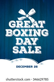Great Boxing Day Sale Australian Holiday Merry Christmas. Boxing day sale design