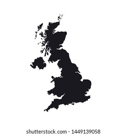 Great Britain abstract maps logo template