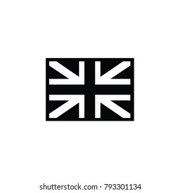 Great Britain black and white flag