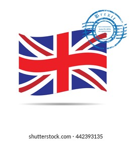 Great Britain Brexit flag stamp
