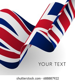 Great Britain flag. Patriotic design. Vector illustration.