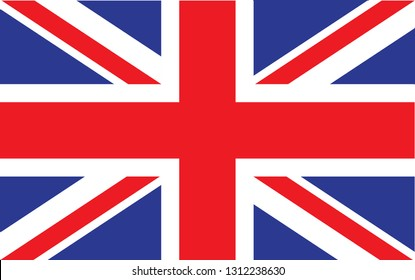 Great Britain  flag. Simple vector Great Britain flag