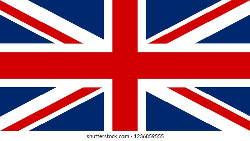 Great Britain flag. United kindom application Language Symbol. Country of manufacture icon. Sticker with national flag Symbol of nation for infographics, web.