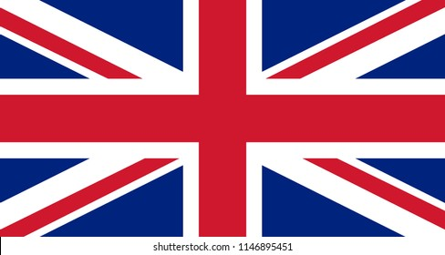 Great Britain flag vector background