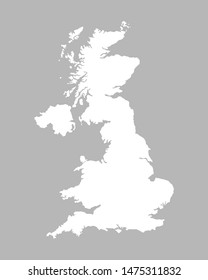 Great Britain map isolated on grey background. United kingdom map icon. Vector illustration