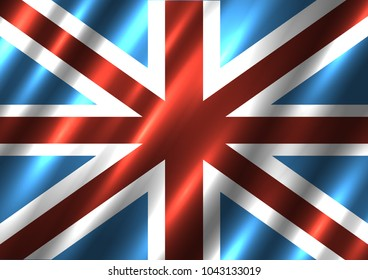 Great Britain national flag background. G8 country United Kingdom standard banner backdrop. Easy to edit wave light shadow