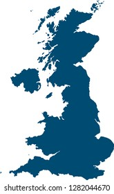 Great Britain and Northern Ireland. . A simple silhouette map of the United Kingdom