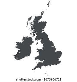 Great Britain (UK). Detailed vector map