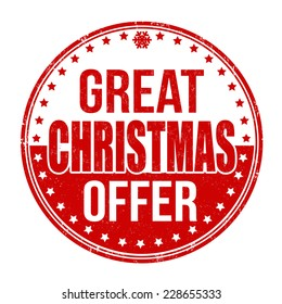 Great Christmas offer grunge rubber stamp on white background, vector illustration