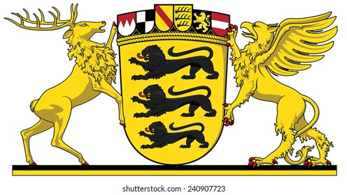 great coat of arms of Baden-W�¼rttemberg