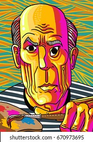 great colorful cubism painter