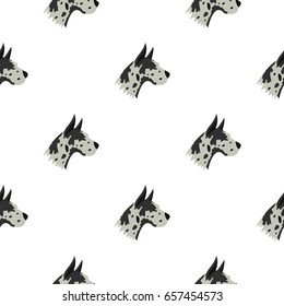 Great dane dog pattern seamless background. Flat illustration of great dane dog pattern vector seamless repeat for any design