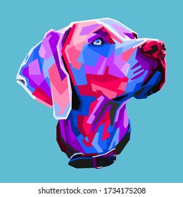 Great dane dog in the style of pop art