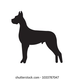 great dane silhouette images stock photos vectors shutterstock rh shutterstock com great dane graphics clipart great dane clipart free