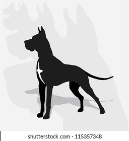 Great Dane- silhouette
