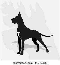 Great Dane- silhouette