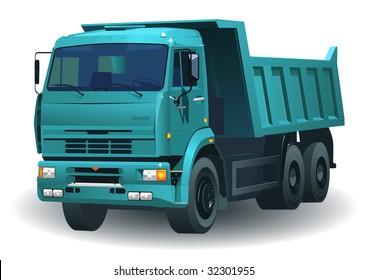 great detailed dumper truck 06