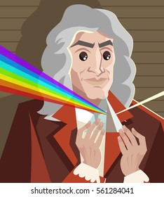 great english scientist physicist decomposing light spectrum optics laws