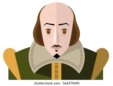 great english writer face portrait