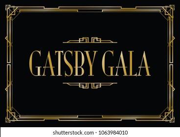 great Gatsby gala background