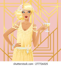 Great Gatsby Party - Blonde Flapper Girl