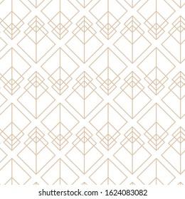 Great Gatsby, roaring 20s, retro, art deco vector pattern.