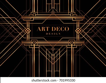 The Great Gatsby Style vector, Abstract geometric patterned background and geometric
