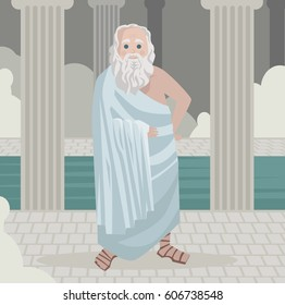 great greek philosopher happy relaxing