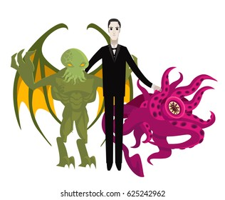 great horror writer with monster creatures