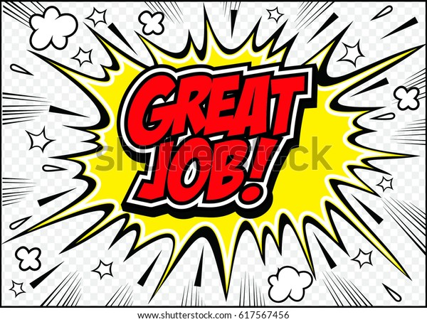 Great Job Letteringgreat Job Cardvector Illustration Stock -7132