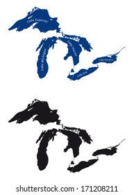 great lakes silhouette