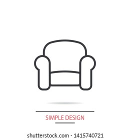 A great linear armchair vector icon,  an armchair vector illustration for business and home  . A sofa icon .