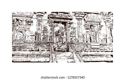 Hindu Temple Sketch Images, Stock Photos & Vectors | Shutterstock