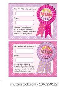 Great for Mother's Day - print off, fill in the name and voila, a fabulous award for your favourite Mum.
