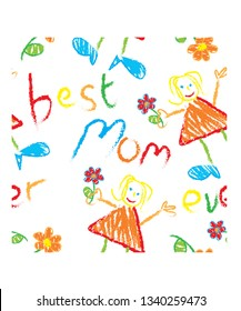 Great for Mother's Day - seamless repeat pattern for gift wrap or textile ideas.
