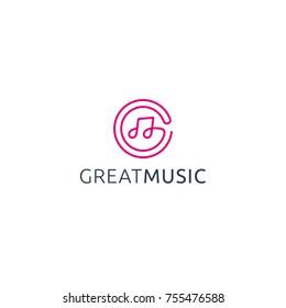 Great Music Logo Vector.