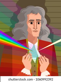 great physicist portrait with prism