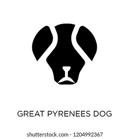 Great Pyrenees dog icon. Great Pyrenees dog symbol design from Dogs collection. Simple element vector illustration on white background.
