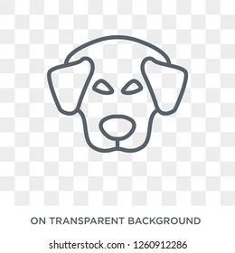 Great Pyrenees dog icon. Trendy flat vector Great Pyrenees dog icon on transparent background from dogs collection. High quality filled Great Pyrenees dog symbol use for web and mobile