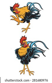 Great Rooster design for any Cock Fight, chicken advertisement and/or icon./Rooster