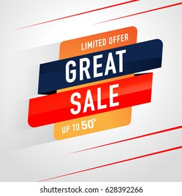Great Sale Icon Sale and special offer. 50% off. Vector illustration.