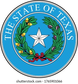 Great Seal of US Federal State of Texas (The Lone Star State)